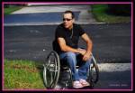 Danny Ruiz in a wheelchair