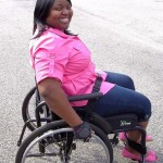 Nina Ellis Sits in her wheelchair